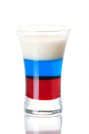 Shot cocktail collection: Russian Flag