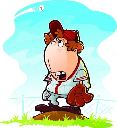 Disappointed baseball pitcher