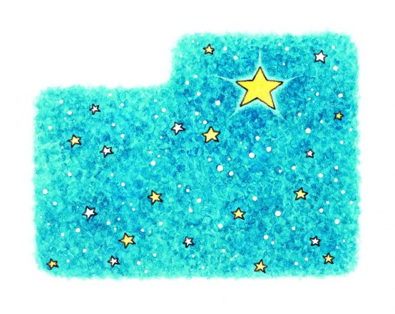 Illustration of a night sky with stars