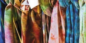 Breezy summer scarves and more hand-dyed treats.