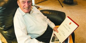 WWII Veteran, Wounded Twice, Earns Accolades Seven Decades Later