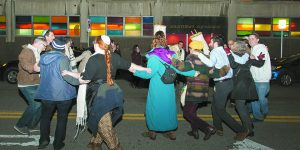 Dancing In The D: Downtown Synagogue Holds A Festive Simchat Torah Service