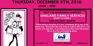 The Boardwalk in W.B. Adopts Families From Oakland Family Services