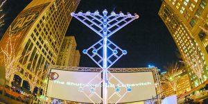 Menorah In The D Lights Up The Motor City