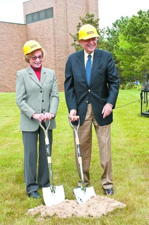 Madge and Bill Berman at a ceremonial groundbreaking for the Berman Center for Performing Arts in 2009