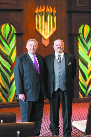 Executive Director Rabbi Boruch Levin and Otto Dube, managing funeral director, of Hebrew Memorial Chapel Photograph by: Brett Mountain