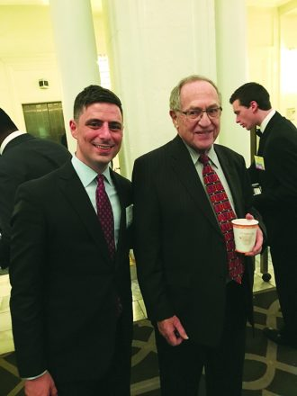 Fashionistas Nick Israel and Alan Dershowitz
