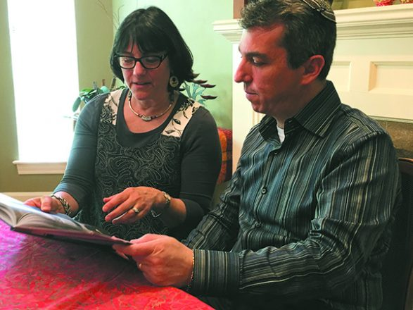 Artist Michelle Sider,  left, illustrated the book written by Rabbi Joseph Krakoff, right, senior director of Jewish Hospice and Chaplaincy Network