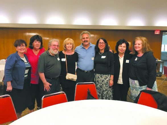 "The committee that planned ""Gathering of the Tribe"" were, from left: Rosa Chessler, Eva Kraus, Dr. Charles Silow, Cindi Wagner, David Oliwek, Evelyn Freeman, Sandy Silver and Suzanne Sundheimer."