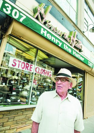 Wasserman in front of his store. Credit: Jerry Zolynsky