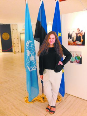 Zoe Kaufman at the U.N. Human Rights Council in Geneva