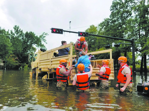 Texas National Guard members help rescue flooded Texans