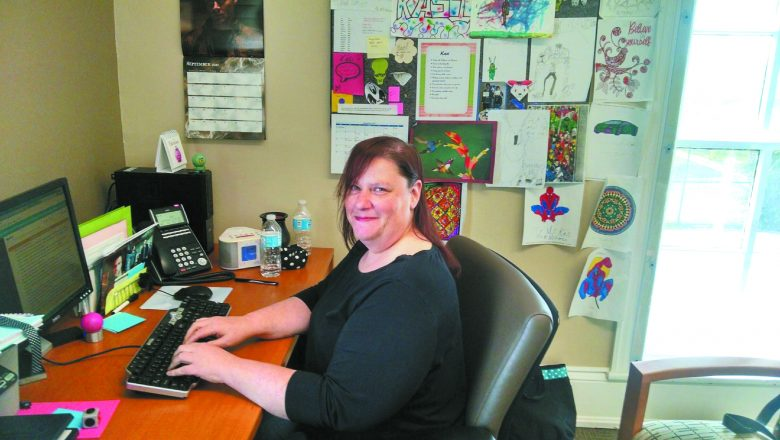 Kasi Nadler was glued to her computer helping hurricane victims via the internet.