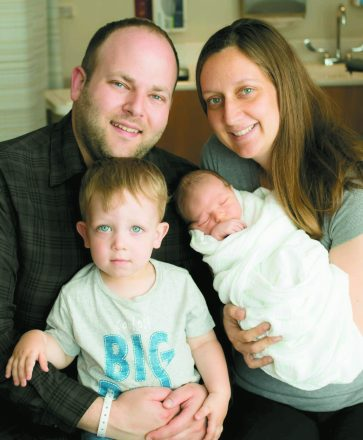 Keith and Tara Schonberger with sons Eli and Adam