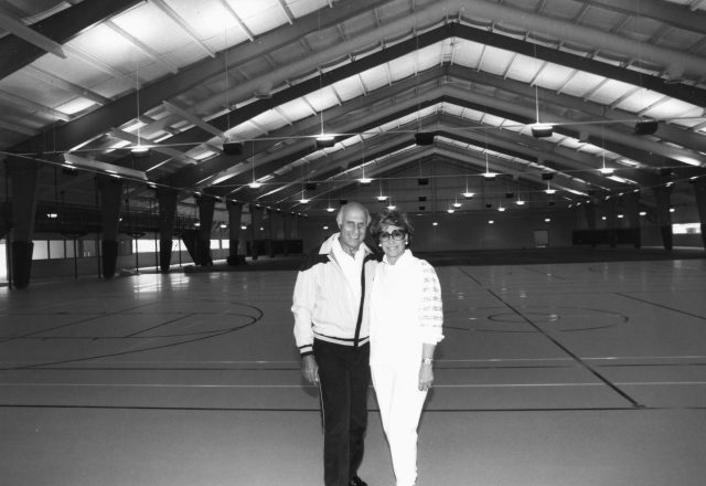 Edward and Shirley Rosenberg in the JCC recreation complex named for them.