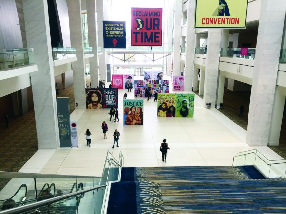 The Cobo Center atrium.