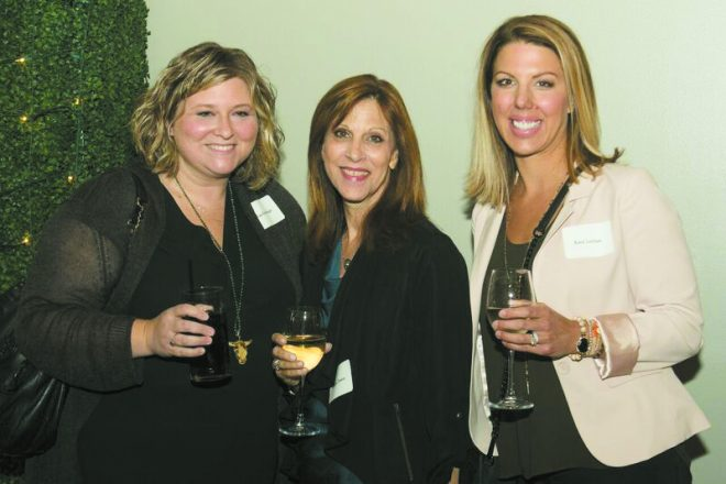 Lisa Rothberger and Suzanne Zwiren, both of Bloomfield Hills, and Katie Leibhan of Birmingham