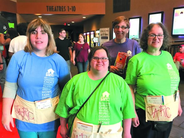 Volunteering at JARCapalooza May 16: Brooke Dunn, Stacey Duczowski, Abbey Katchke and Laura Friedman, all residents of the Gilbert Home