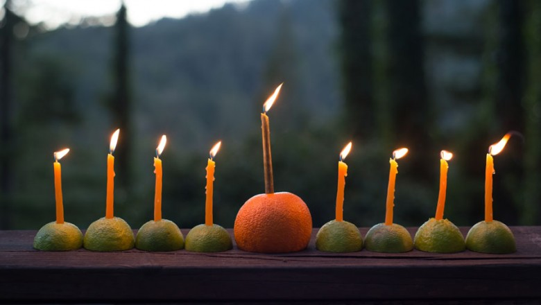 citrus menorah