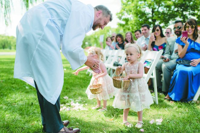 Yoni and the flower girls.