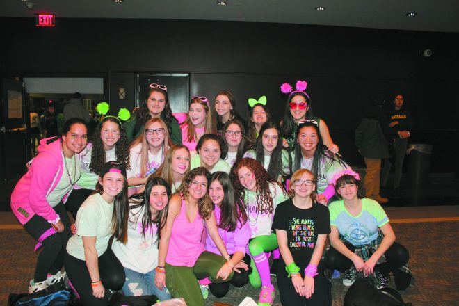 Emunah BBG members show off their spirit at RC Opening Ceremonies.