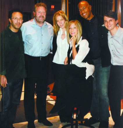 Anthony Wilson, Jeff Hamilton, Diana Krall, Barbra Streisand, John Clayton and Hendelman in 2009