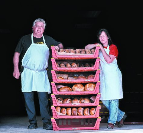 Frank Carollo and Amy Leviten Emberling, co-owners of Zingerman's Bakehouse in Ann Arbor.
