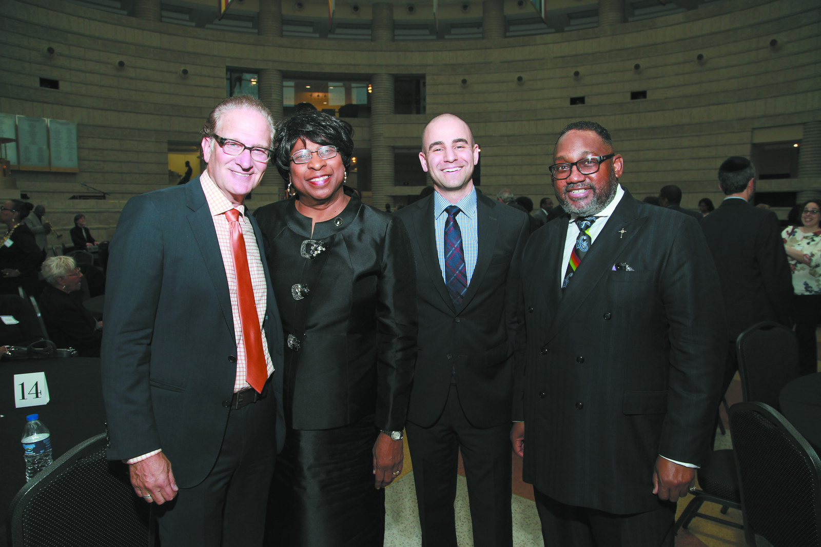 Coalition for Black and Jewish Unity leadership team: Mark Jacobs, AIPAC, Michigan Director of African-American Outreach; Rev. DeeDee M. Coleman, president, Council of Baptist Pastors of Detroit and Vicinity; David Kurzmann, executive director, Jewish Community Relations Council/AJC; and Rev. Kenneth J. Flowers, Greater New Mt. Moriah Missionary Baptist Church.
