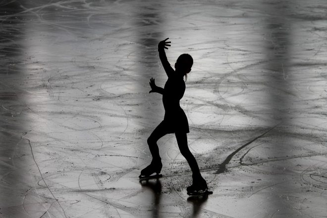 figure skater in silhouette to represent an Olympic Figure Skater, Olympic Figure Skating
