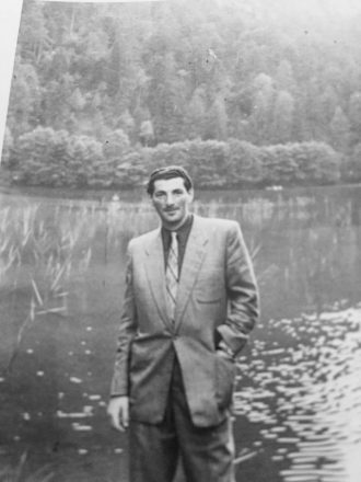 Morey Strasberger. Fred Strasberger believes this photo of his father, Morey, a Holocaust survivor, was taken after WWII somewhere in Bavaria.