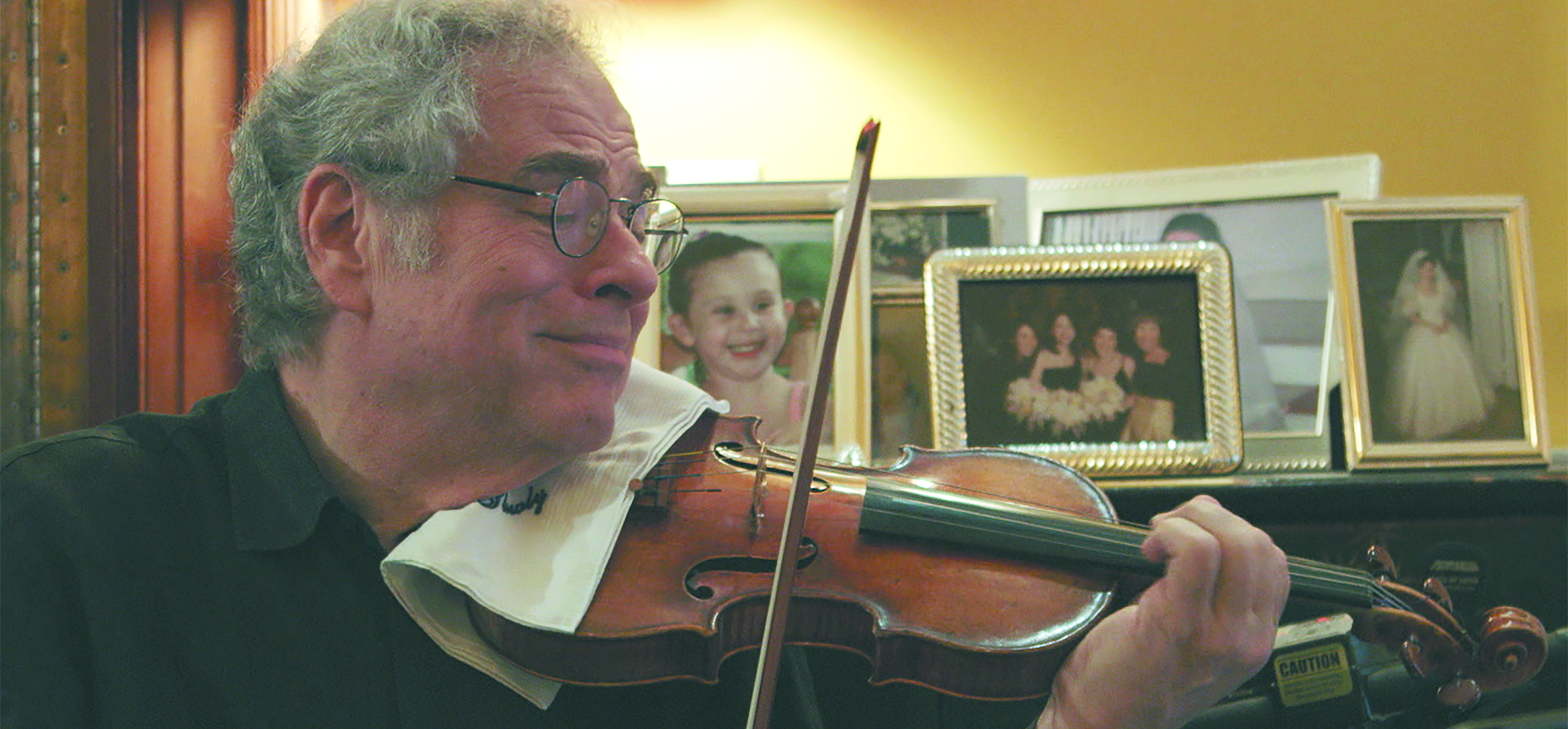 Itzhak Perlman at home