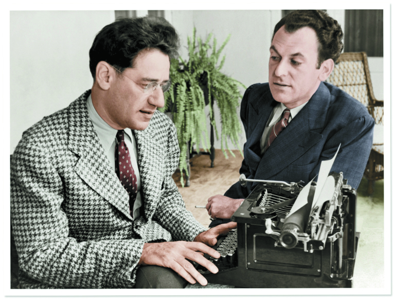 George S. Kaufman and Moss Hart in 1937, the year their play You Can't Take It with You won a Pulitzer.