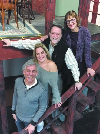 Director Jay Kaplan with actors Jillian Felch Frederick, Stephen Sussman and Julie Smith Yolles.