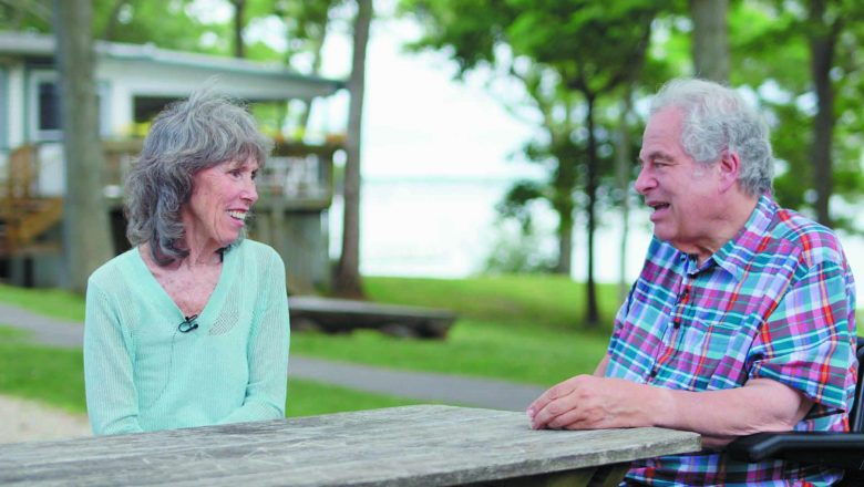 Perlman and his wife, Toby, on Shelter island