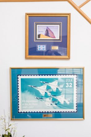 Handleman's photography has graced two U.S. commemorative stamps.