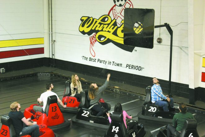 On Jan. 11, Jewish students from Hillel of Metro Detroit's six college campuses came together to play whirlyball in Novi to celebrate the beginning of the new winter semester at HMD's Welcome Back whirlyball event.