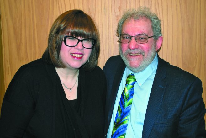 Renee Fein and Charley Silow both staff the Program for Holocaust Survivors and Families.