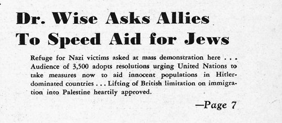 Clip from the Detroit Jewish News paper from March 5, 1943.