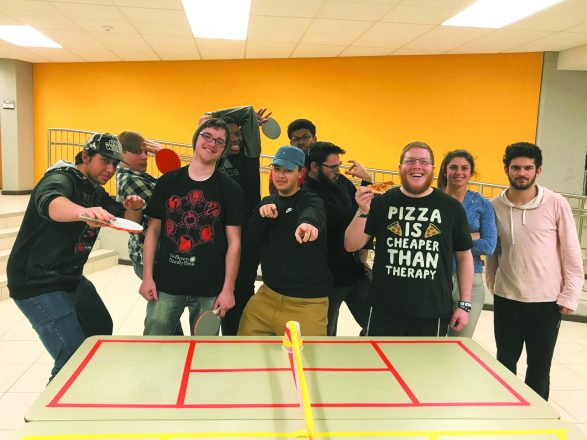 On Jan. 17, Jewish students from Oakland Community College enjoyed pizza and ping-pong provided by Hillel of Metro Detroit (HMD).