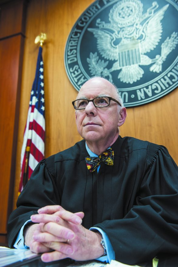 Judge Goldsmith in his chambers