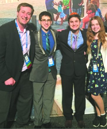 Congregation B'nai Moshe Rabbi Shalom Kantor and PB & J teens at AIPAC