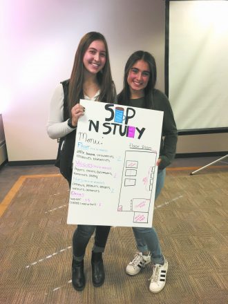 Hannah Knoll and Brayden Hirsch with their Shark Tank winning idea. BBYO program helps girls become capable at business. These girls are young entrepreneurs learning the skills and what it takes to be an entrepreneur. Entrepreneurship