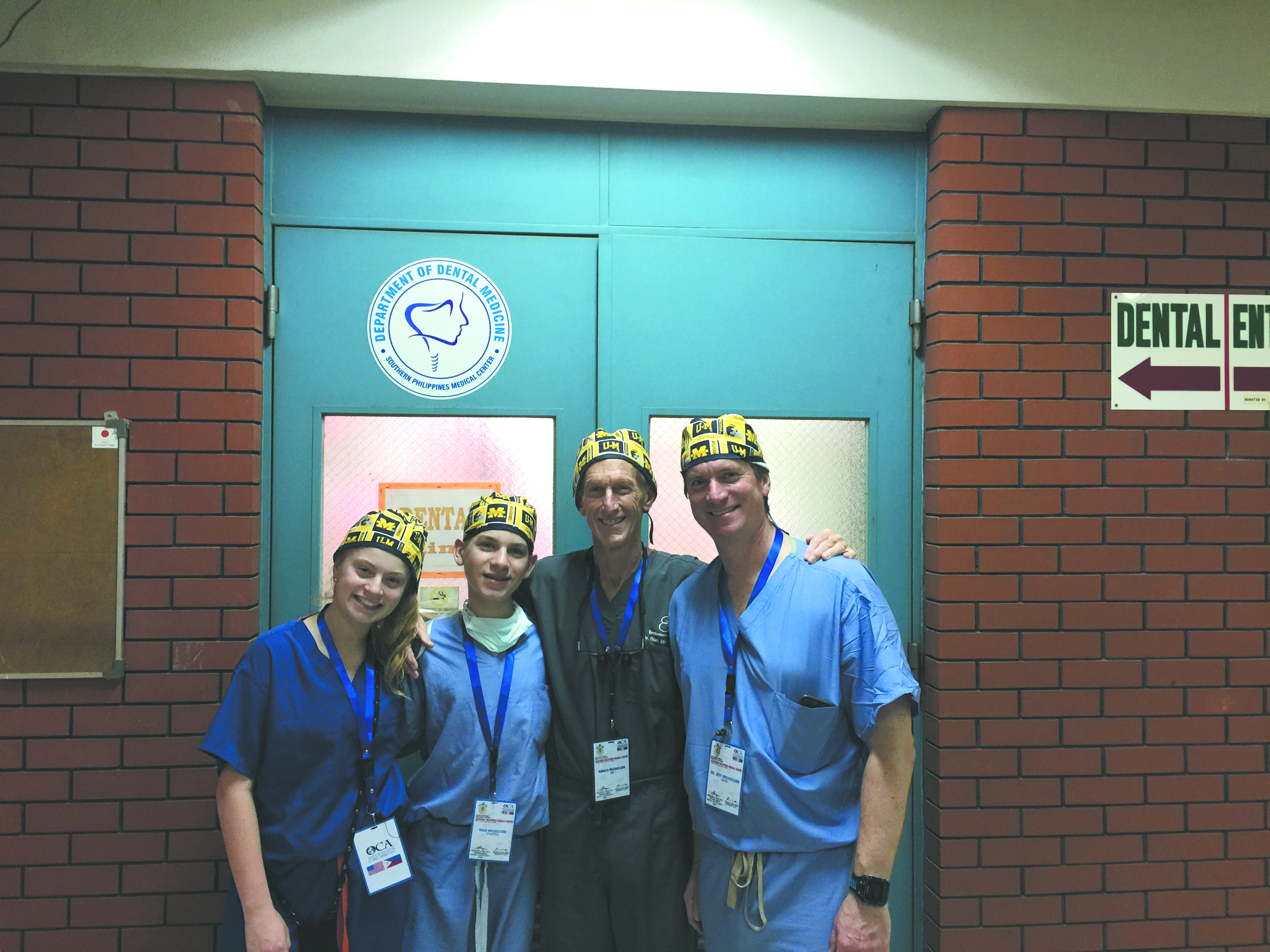 Dalia, Noah, Ron and Jeff Michaelson on a medical mission in the Philippines.