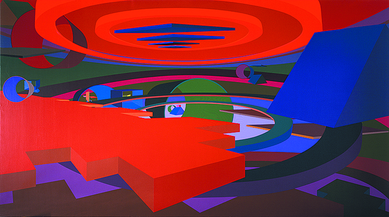 Orion V, 1991, acrylic on canvas.