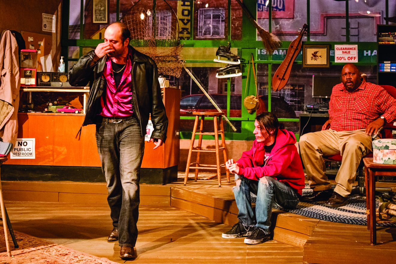 For David Mamet's American Buffalo, set designer Elspeth Williams transformed the JET stage into a resale shop in Hamtramck. Photo by Jan Cartwright