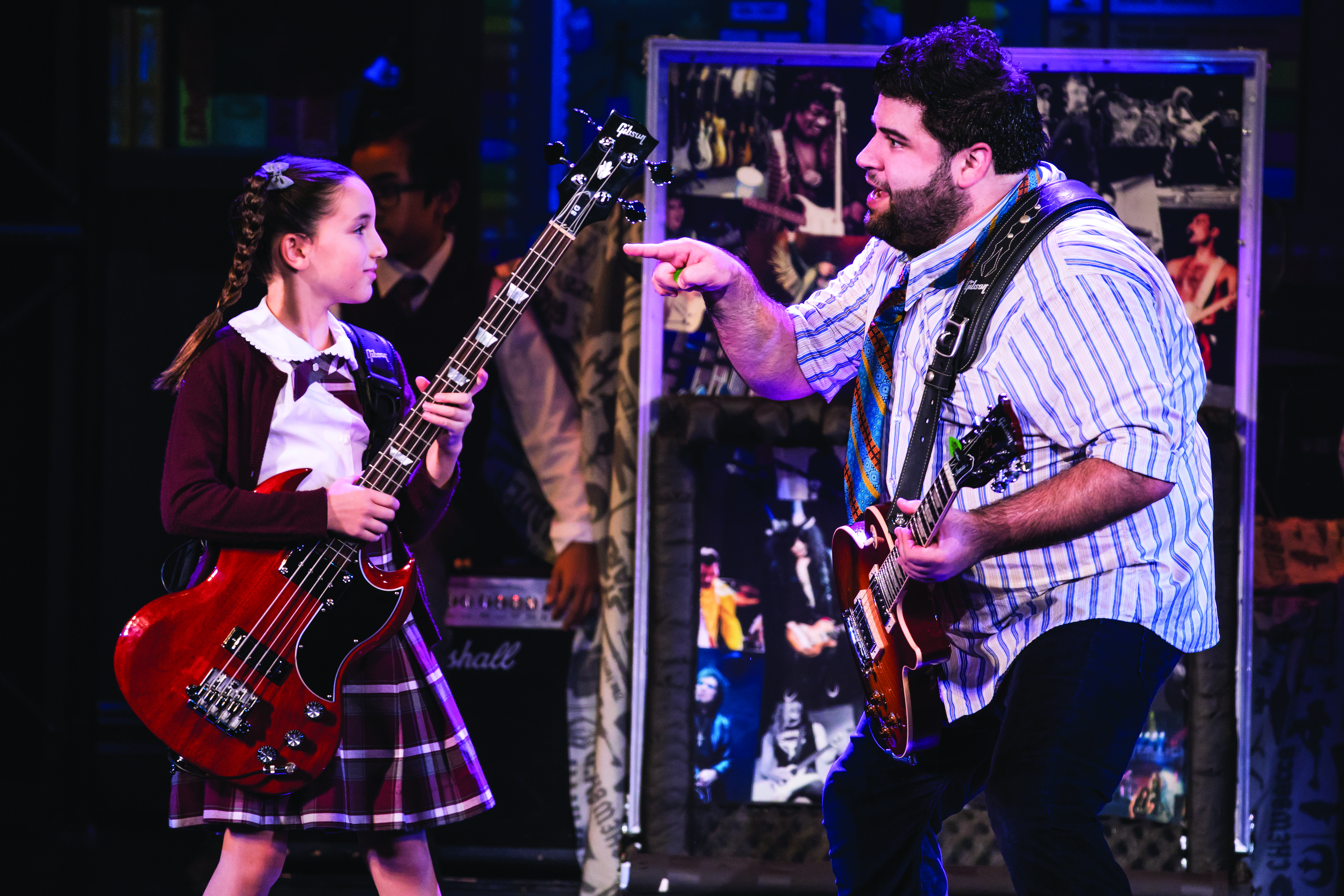 Theodora Silverman and Rob Colletti in School of Rock