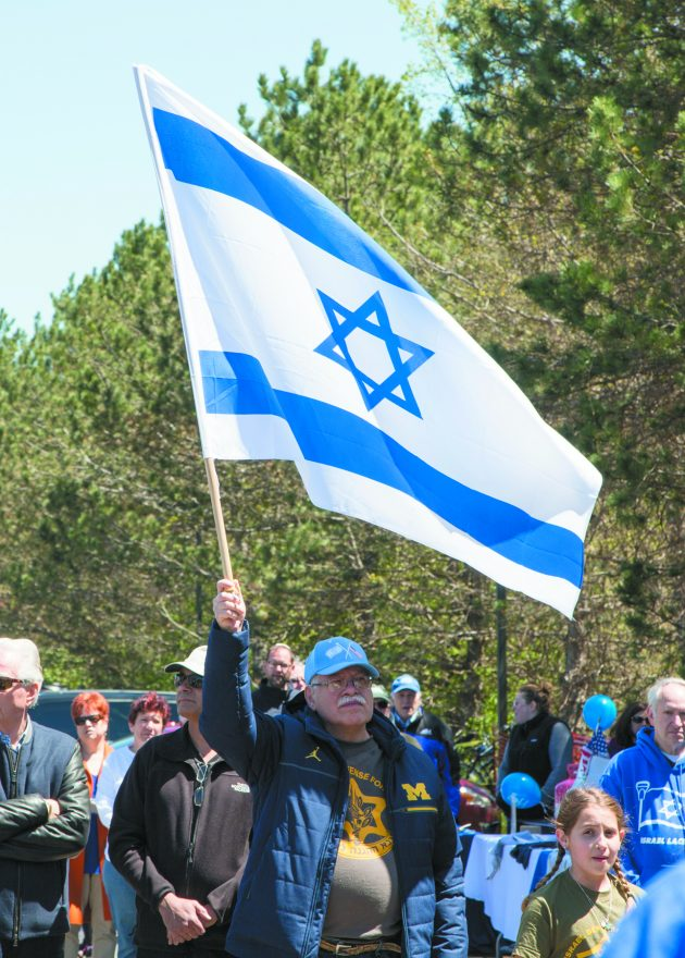 Ray Rebeck of West Bloomfield at last year's Walk for Israel.