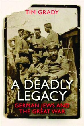 "Cover from the book ""A Deadly Legacy"" in honor of Yom HaShoah."