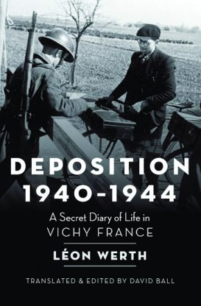 "Cover from the book ""Deposition 1940-1944"" in honor of Yom HaShoah."