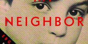"""Cover from the book """"Hitler My Neighbor"""" in honor of Yom HaShoah."""